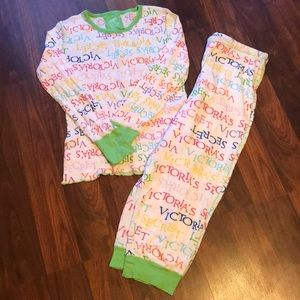 Victoria's Secret pajama set multicolor long johns